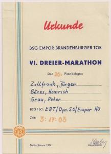 Mein schnellster Team-Marathon