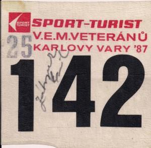 kleinKarlovy Vary Startnummer mit Zatopek