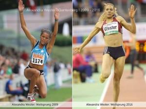 Alexandra Wester klein zwei Fotos nebeneinadner