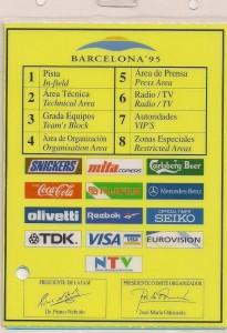 Barcelona klein Presseausweis hinten
