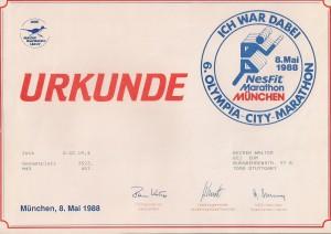 München Marathon 1988 (2)
