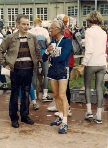 Mit Werner nach dem Marathon