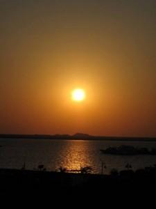 Sonnenaufgang klein in Safaga (Ägypten)