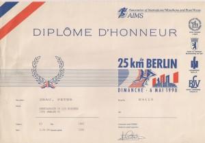 Berlin 1990 Urkunde