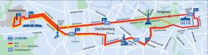 Berlin 25 km klein 2016 Strecke