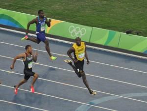 Bolt Semi 200 m kurz vor Ziel