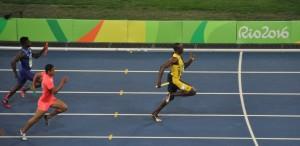Bolt Staffel kurz vor Ziel