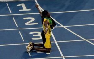 Bolt nach Staffelgold in der Mixedzone