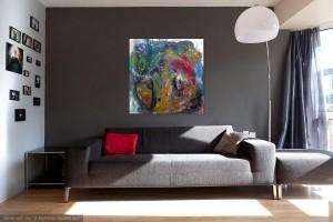 Haag eins o.T. Acryl auf Leinwand 80 x80 cm
