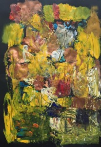 Haag zweiunddreißig Just Finished Acryl auf Papier 50 x72