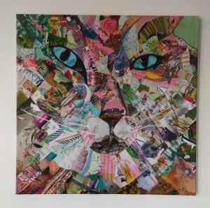 Sailer sechsundzwanzig Zeitschriftenschnipsel auf Leinwand 60x60