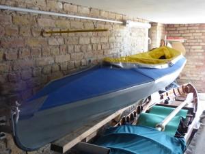 Anrudern Faltboot zwei