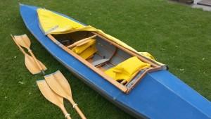 Faltboot am Ruderclub drei Farbe