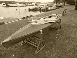 Faltboot am Ruderclub eins