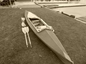 Faltboot am Ruderclub zwei