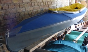 Faltboot zwei Bootshaus