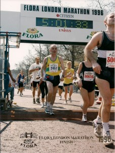 London 1996 Grau im Ziel