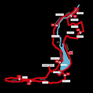 Hamburg Marathon eins Strecke