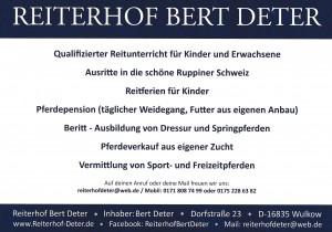 Deter Reiterhof zwei